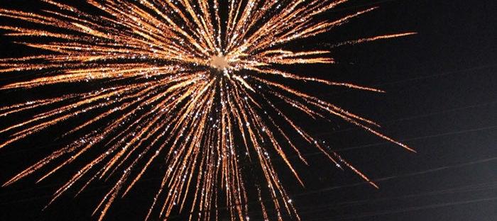 Fogos de artifício comemorativos